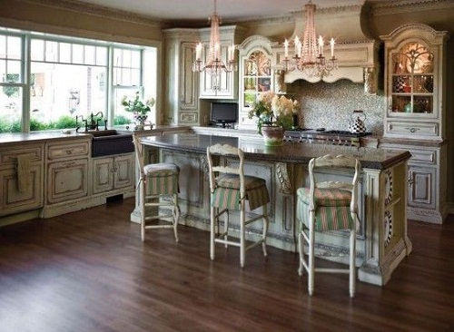 Thiết kế phòng bếp mang phong cách đồng quê