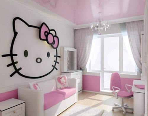 Trang trí gam màu hồng tạo căn phòng bé thêm lãng mạn