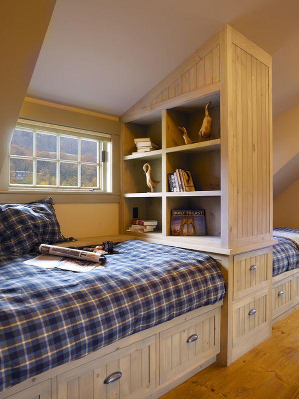 Thiết kế giường cho 2 bé cùng một phòng