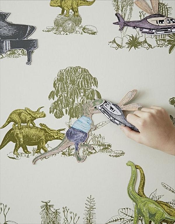 Thiết kế phòng ngủ cho bé theo phong cảnh khủng long