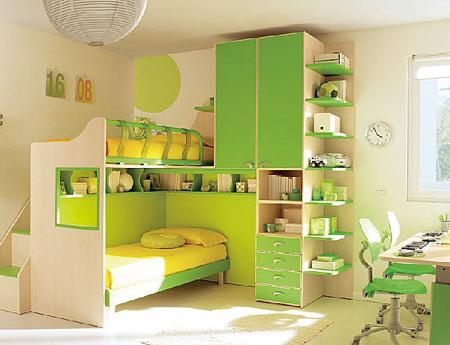 Thiết kế kiểu giường tầng dành cho bé