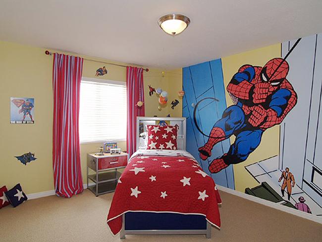 Trang trí căn phòng người nhện cho cậu con trai