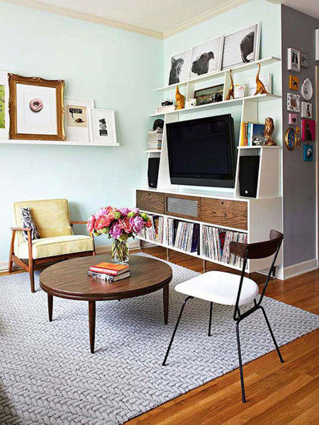 Thiết kế phòng khách vừa nhỏ vừa ấm cúng