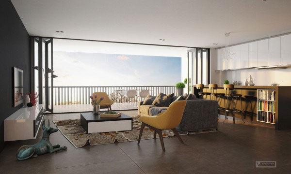 Cách thiết kế phòng khách cho căn hộ nhỏ thoáng mát