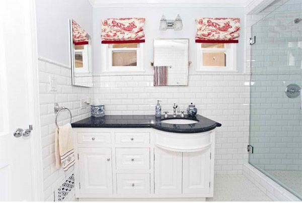 Gạch subway tạo cho phòng tắm bạn thêm phần rực rỡ