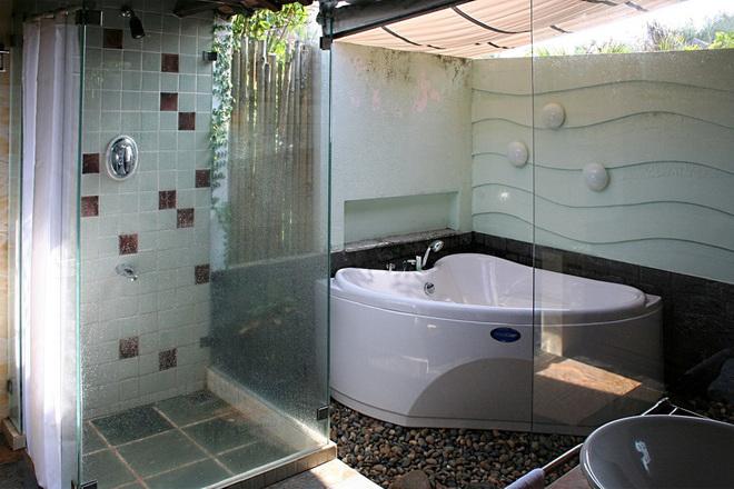 Phòng tắm mở tạo không gian thoải mái hơn