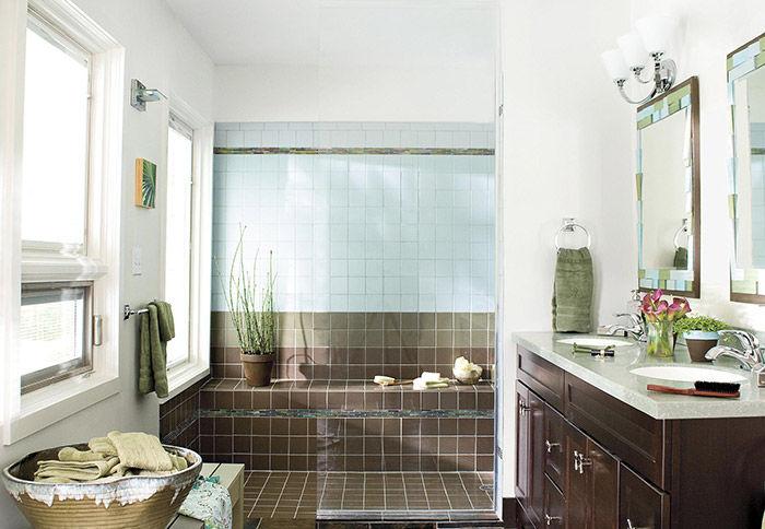 Thiết kế phòng tắm sạch và sáng