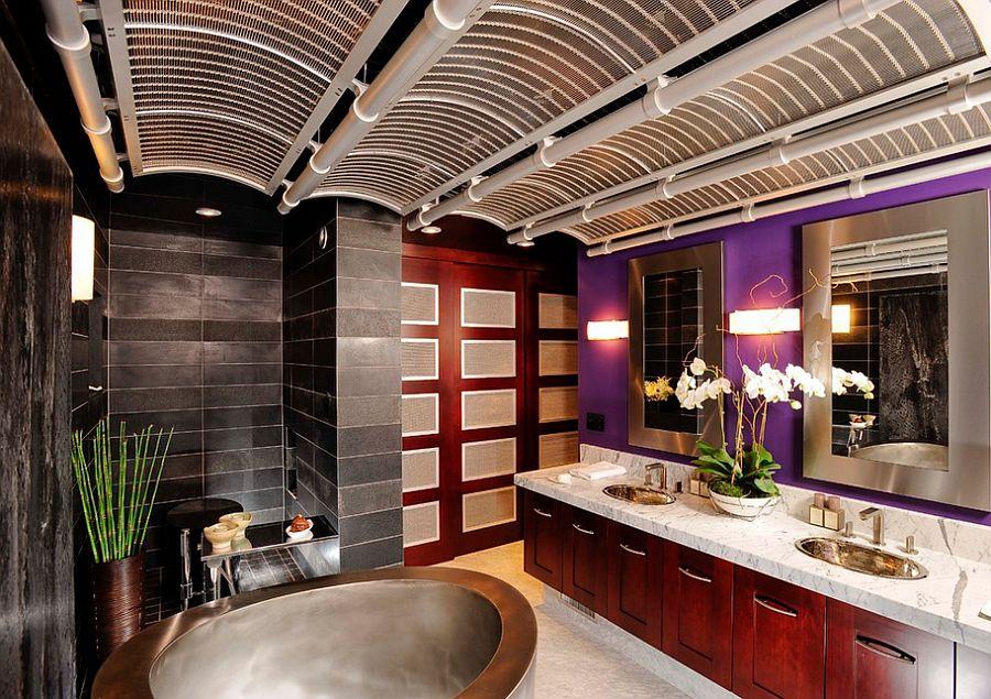 Những kiểu phòng tắm sắc tím