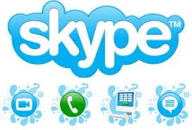 Thư ký chia sẻ thông tin qua skype