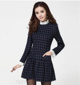 Thời trang nữ: BST váy kẻ mùa đông đẹp nhất 2015