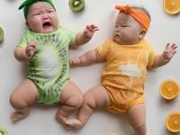 Thử cách phối áo quần đáng yêu cho cặp sinh đôi