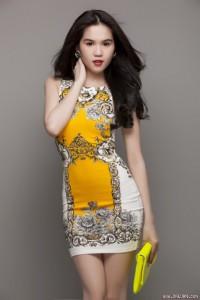 Đầm body hoa văn