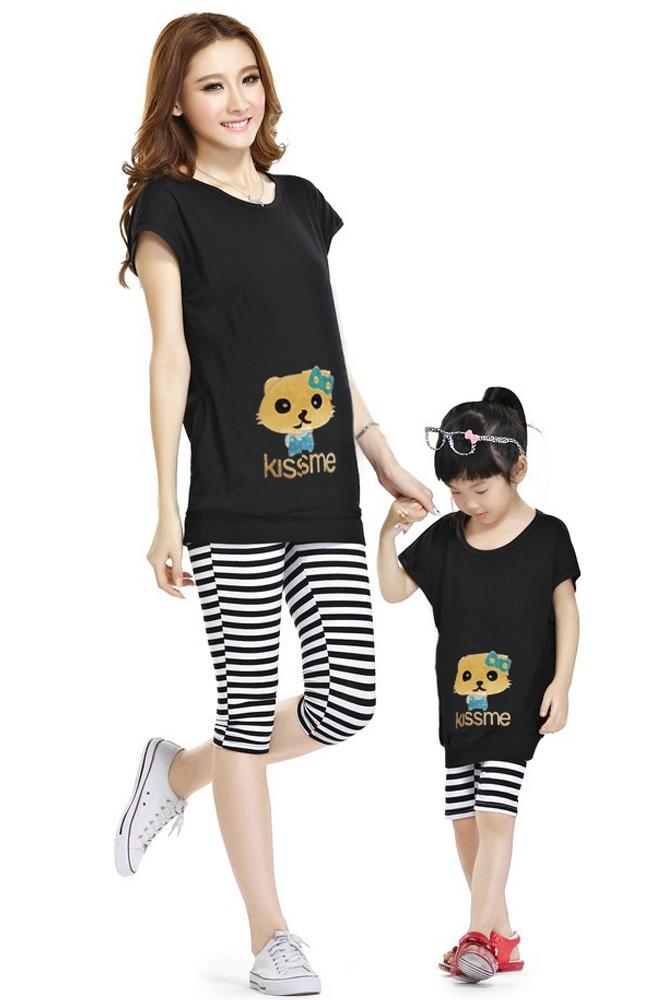 Bộ đồ quần áo xuất khẩu cho bé và mẹ dễ thương ngày hè