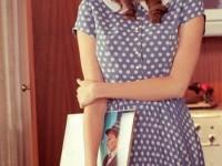 Đầm Xòe Công Sở Chấm Bi