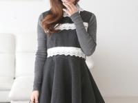 Đầm Xòe Công Sở Đáng Yêu Hàn Quốc