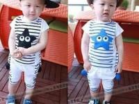 Quần áo trẻ em thun coston