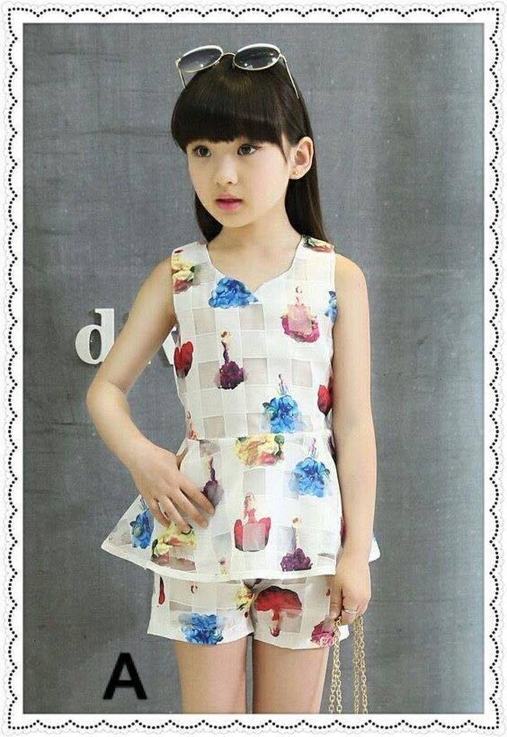 Các bộ quần áo xuất khẩu cho bé gái mặc ở nhà