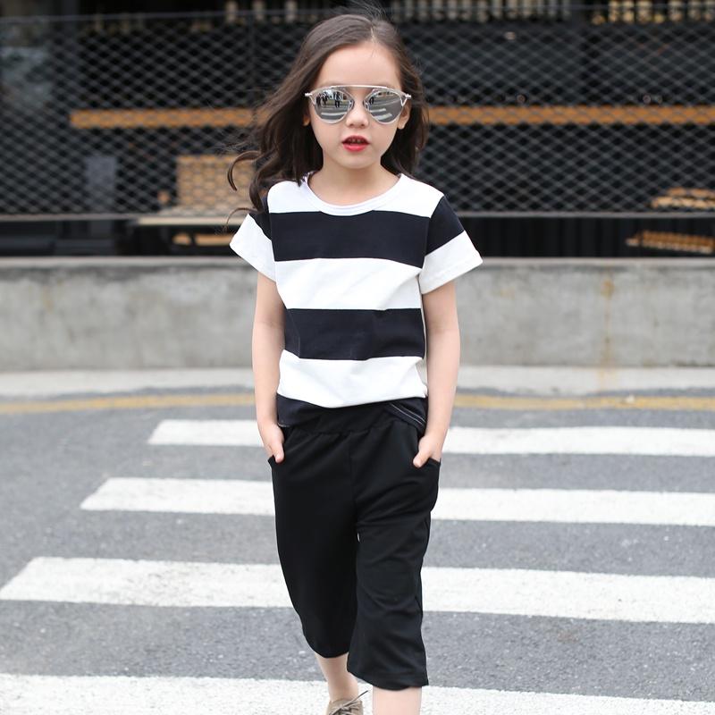 Bộ quần áo xuất khẩu cho bé gái sành điệu