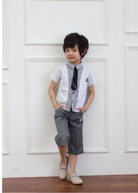Quần áo xuất khẩu cho bé trai phong cách Hàn Quốc 2