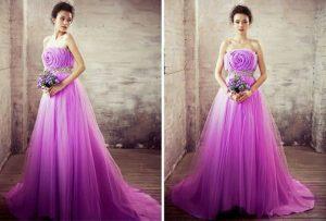 áo cưới tím