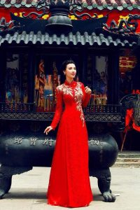 vai may ao dai