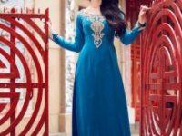 Vải áo dài nhung –  ren – lưới