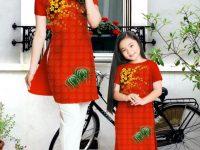 Vải áo dài Ngọc Cẩm- Đón xuân cho mẹ và bé
