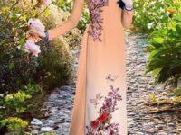 Vải áo dài đẹp cho mùa xuân