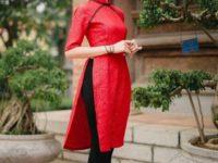 Vải áo dài Ngọc Cẩm – Mẫu áo dài cách tân được ưa chuộng nhất 2017