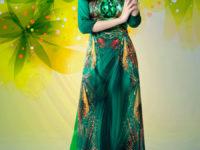 Áo dài in 3D – Mẫu áo dài đẹp như tranh vẽ